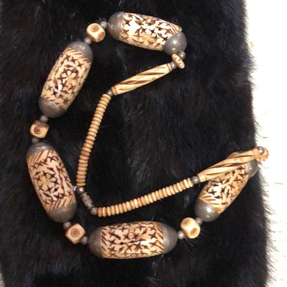 Vintage Jewelry Carved Bone Necklace Poshmark